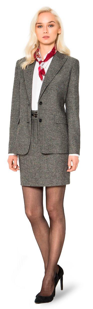 traje falda en tweed