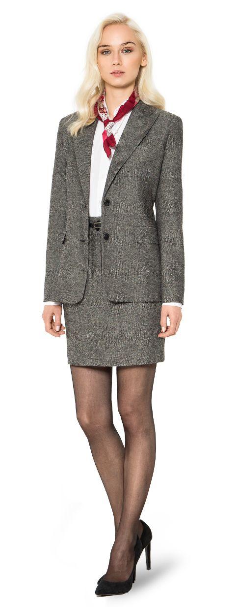 traje falda de tweed