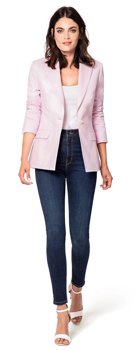 blazer rosa de mujer
