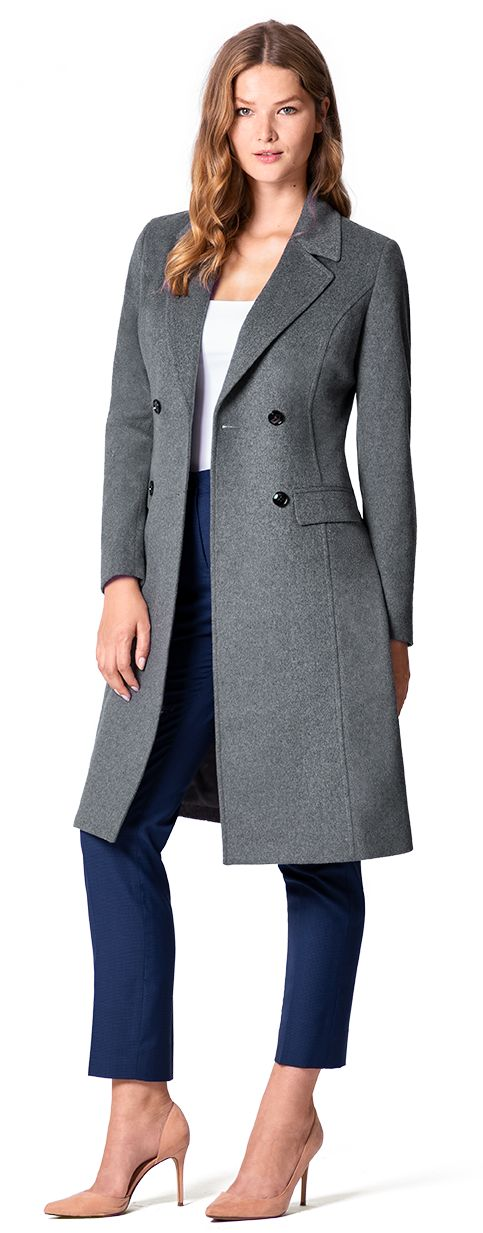 abrigo gris a medida mujer