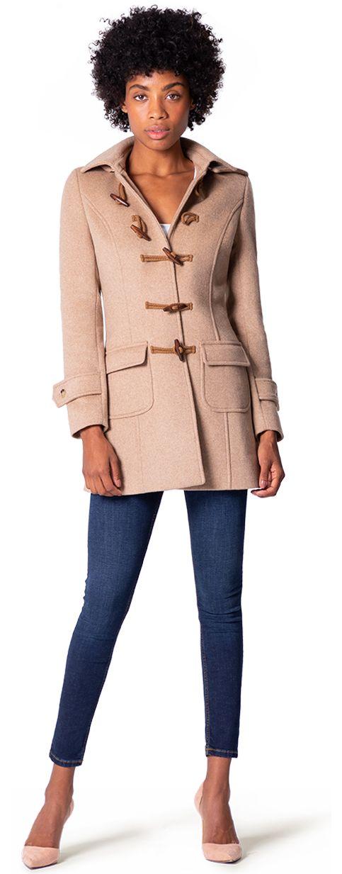cappotto montgomery da donna beige