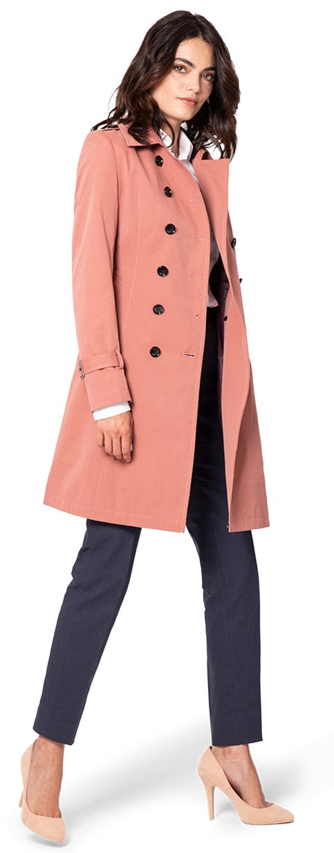 trenchcoat color coral