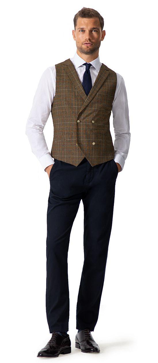 chaleco de tweed