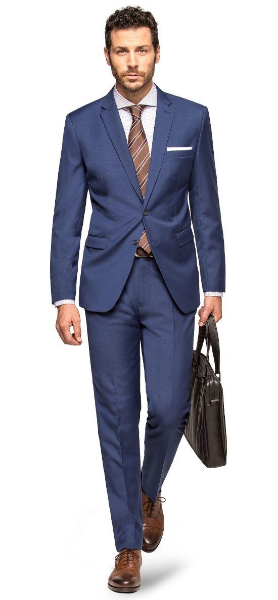 blauer herren anzug