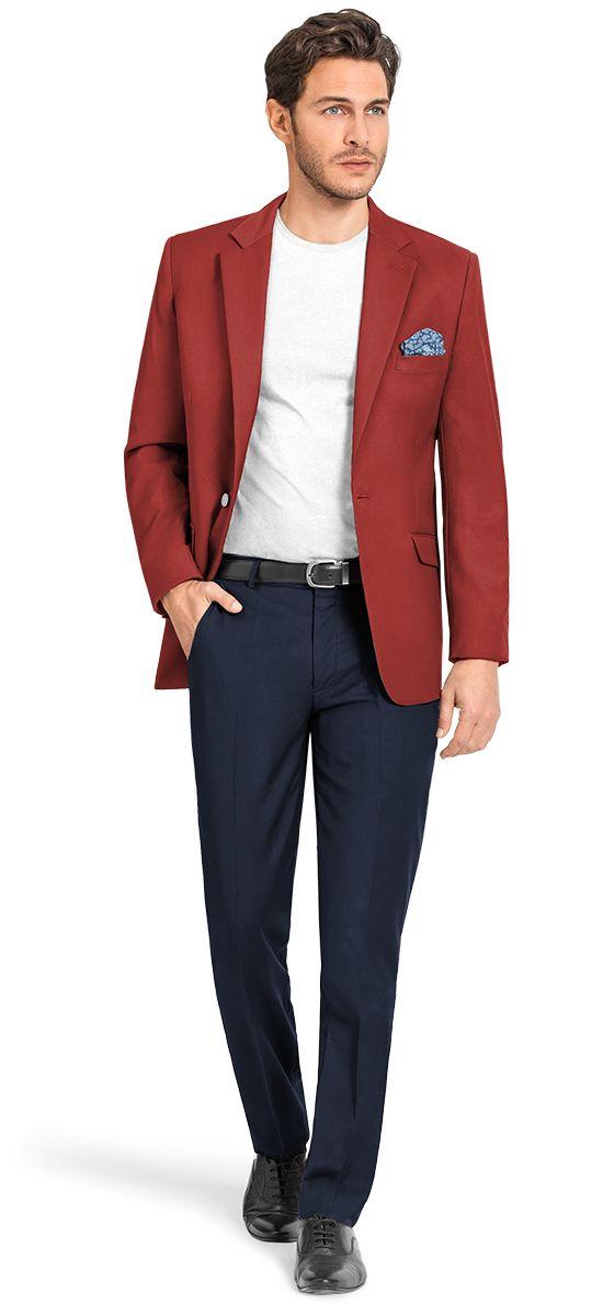 men's red blazers